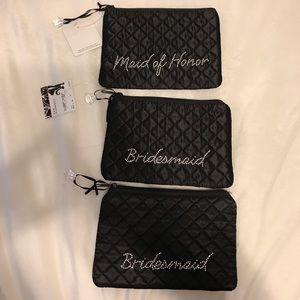 Three New Bridesmaid/Maid of Honor Cosmetic Bags